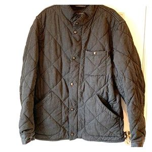 J.Crew Quilted Grey Sussex Jacket - men's Large